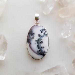 Dendritic Agate Pendant (sterling silver)