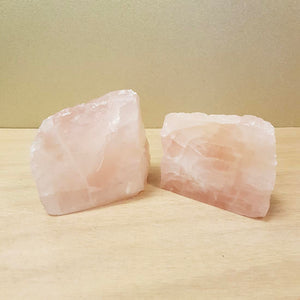 Rose Quartz Semi Polished Standing Piece (assorted.  approx. 5.5-7x8-9x5-6cm)