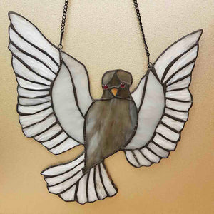 Peace Dove Leadlight Panel (approx. 30x29cm)
