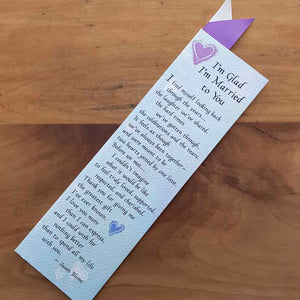 Glad I'm Married to You Bookmark (approx. 5.5x18.5cm)