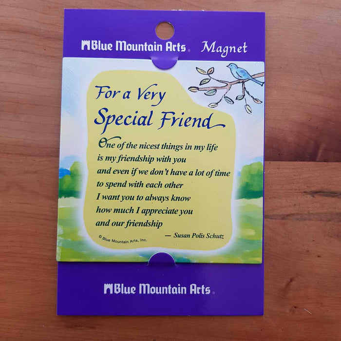 A Very Special Friend Magnet (approx. 9x9cm)