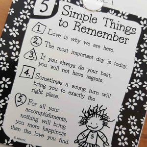 Simple Things to Remember Magnet (approx. 9x9cm)