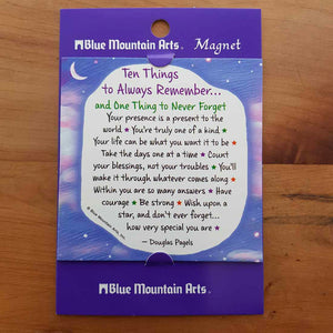Ten Things to Always Remember Magnet (approx. 9x9cm)