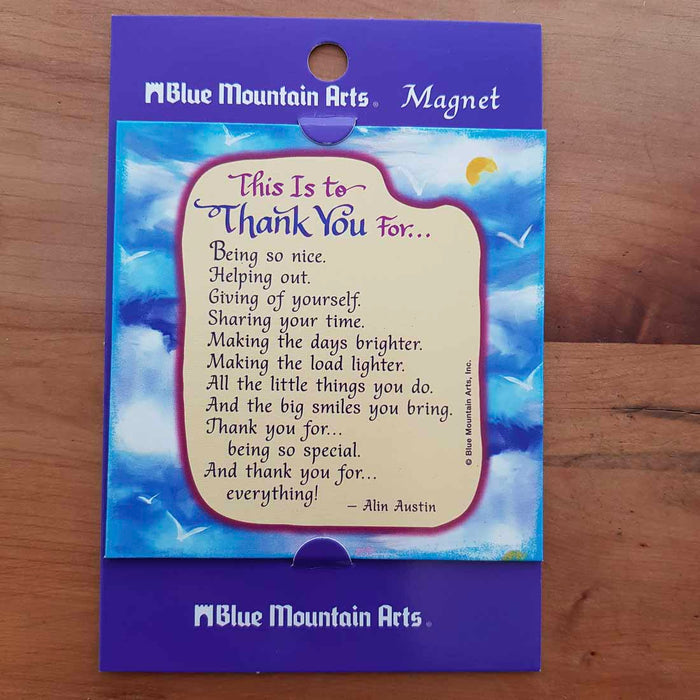 Thank You Magnet (approx. 9x9cm)