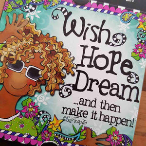 Wish Hope Dream Magnet (approx. 9x9cm)