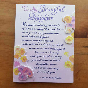 To My Beautiful Daughter Magnet (approx. 9x12cm)