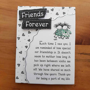 Friends Forever Magnet (approx 9x12cm)