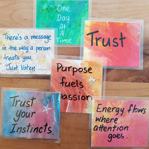 Affirmation Magnets Handcrafted by Lyn Pollock (assorted)