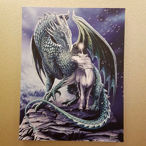 Protector of Magick Dragon & Unicorn Canvas by Lisa Parker (approx. 25 x 19cm)