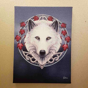 Wolf Guardian of the Fall Canvas by Lisa Parker (approx. 25 x 19cm)