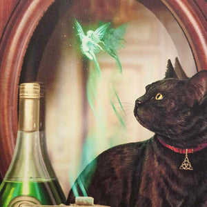 Absinthe Cat Canvas by Lisa Parker (approx. 25 x 19cm)