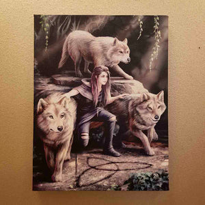 Power of Three Canvas by Anne Stokes (approx. 25 x 19cm)