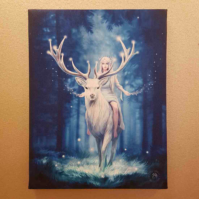 Fantasy Forest Canvas by Anne Stokes (approx. 25 x 19cm)