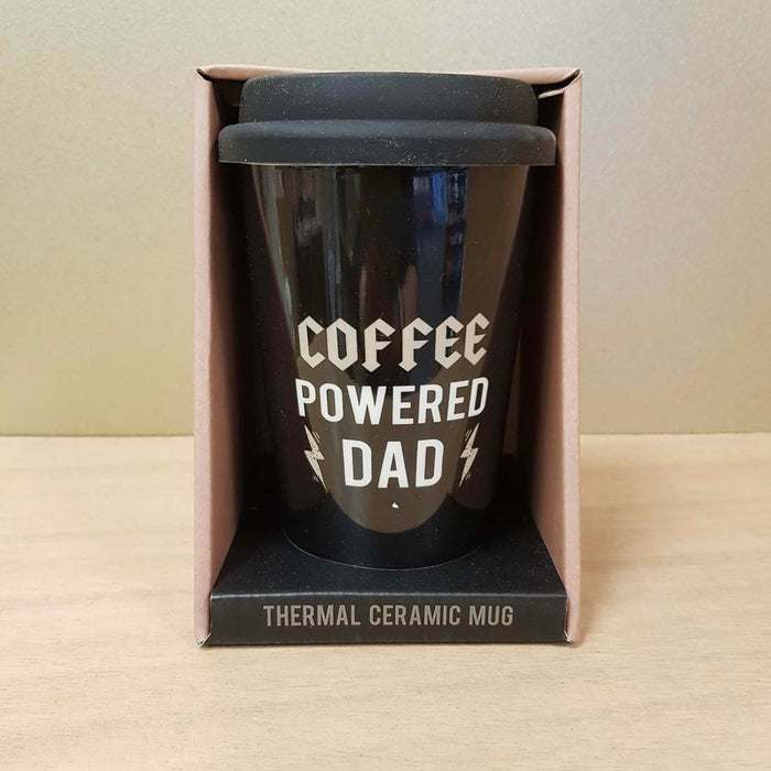 Dad Coffee Powered Travel Mug (approx. 15x9.5cm)