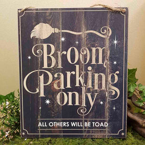 Broom Parking Sign (approx. 25x30cm)