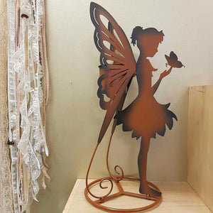 Fairy with Butterfly Planter (approx. 67x33x28cm)