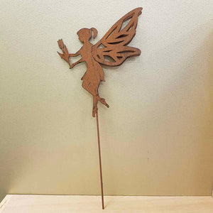 Rustic Fairy Garden Stake (metal. approx. 40x18cm)