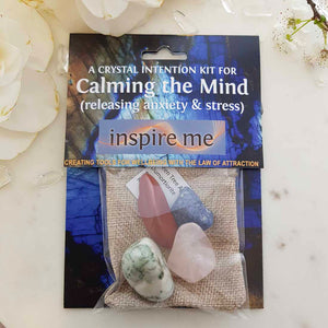 Calming The Mind Crystal Intention Kit.