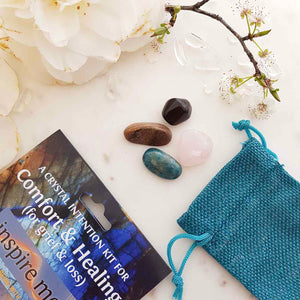 Comfort & Healing For Grief Crystal Intention Kit