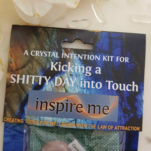 Kicking a Shitty Day into Touch Crystal intention Kit