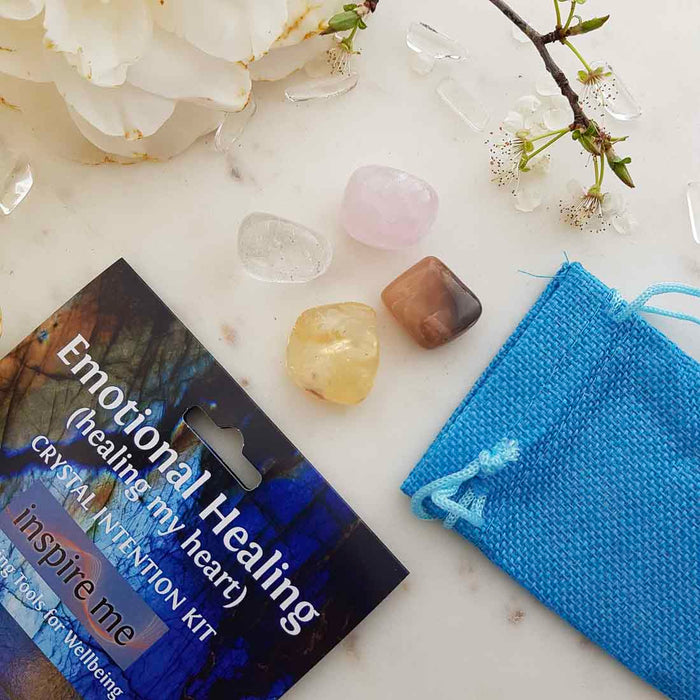 Emotional Healing Crystal Intention Kit