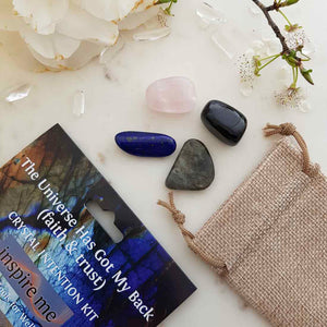 The Universe Has Got My Back Crystal Intention Kit