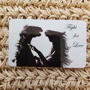 Fight For Love Horse Wisdom Magnet (approx. x9cm)