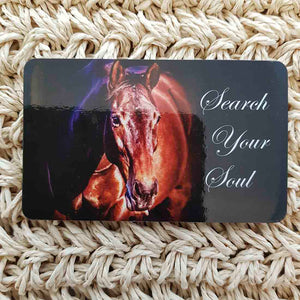 Search Your Soul Horse Wisdom Magnet (approx. x9cm)