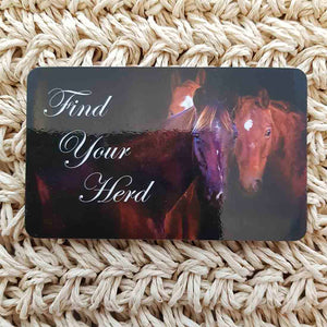 Find Your Herd Horse Wisdom Magnet (approx. x9cm)