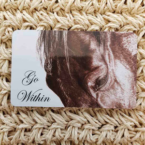 Go Within Horse Wisdom Magnet (approx. x9cm)