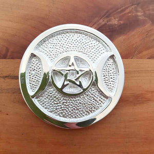 Triple Moon with Pentacle Altar Tile