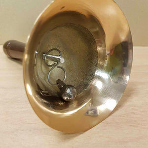 Brass Bell with Wooden Handle (approx. 19x9cm)
