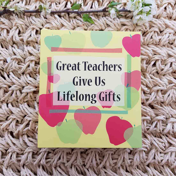 Great Teachers Give Us Lifelong Gifts (approx. 8.5x7cm)