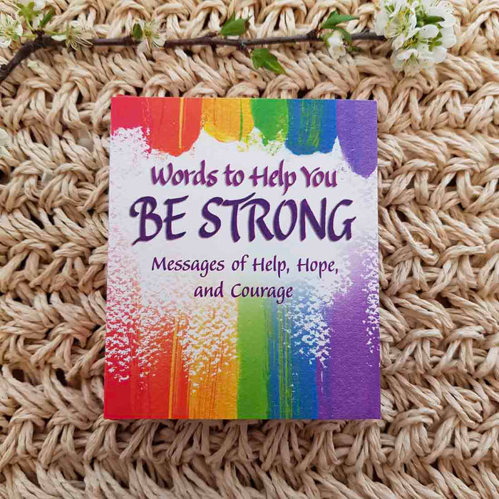 Words to Help You Be Strong (approx. 8.5x7cm)