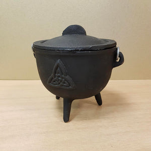 Incense Cauldron With Triquetra (cast iron)