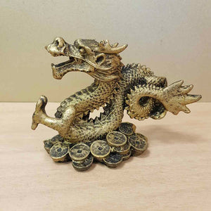 Gold Finish Feng Shui Dragon (approx. 15x10cm)