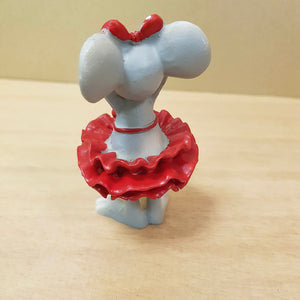 Cute Mouse in Red Dress