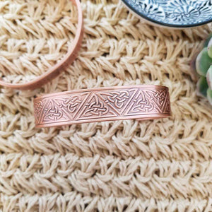 Triquetra Copper Bracelet with Magnets