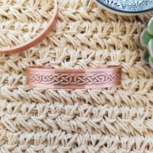 Celtic Knot Copper Bracelet with Magnets