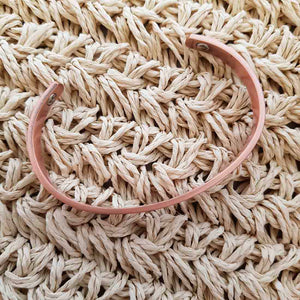 Geometric Design Copper Bracelet with Magnets