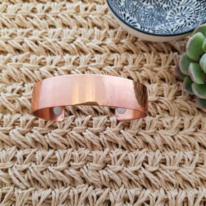 Plain Copper Bracelet with Magnets