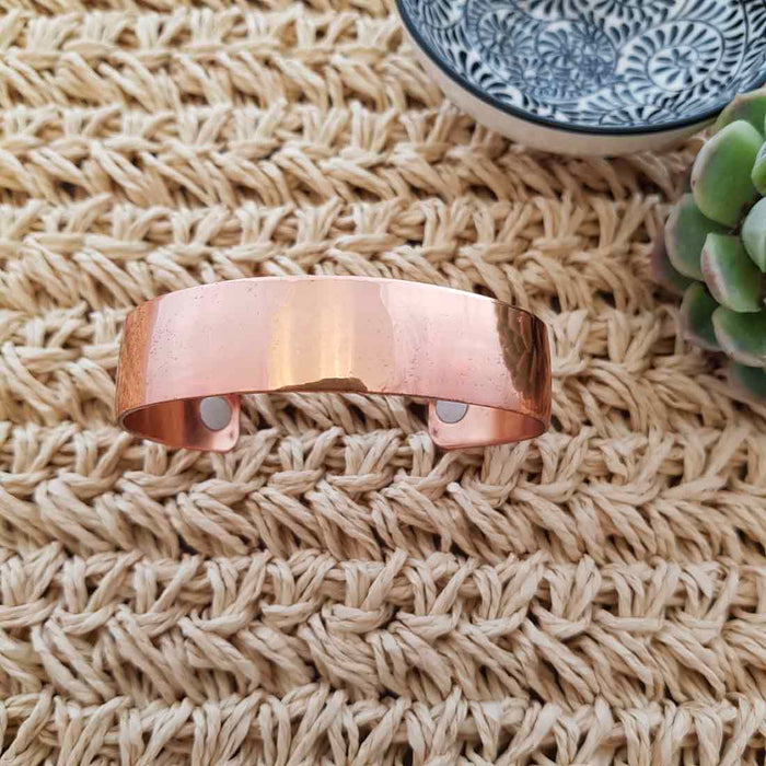 Plain Copper Bracelet with Magnets (15mm)