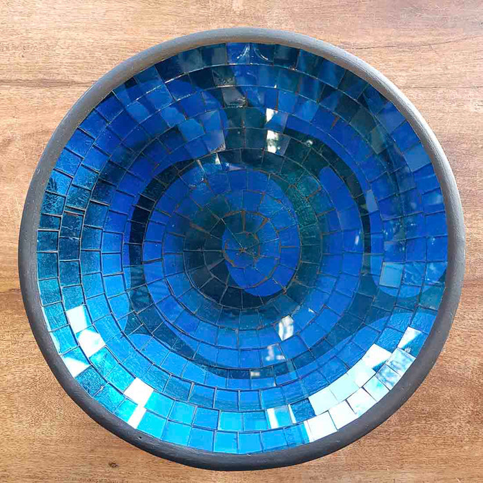 Blue Mosaic Bowl (approx. 30x30x7cm)