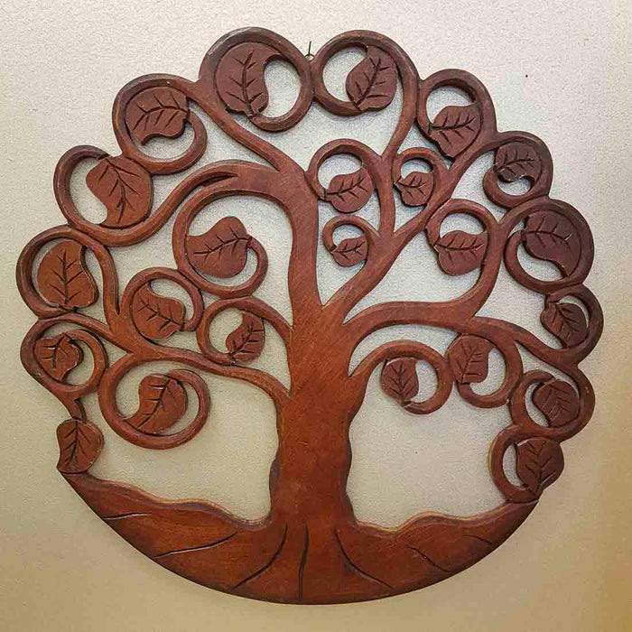 Carved Tree of Life (brown. approx. 40cm)