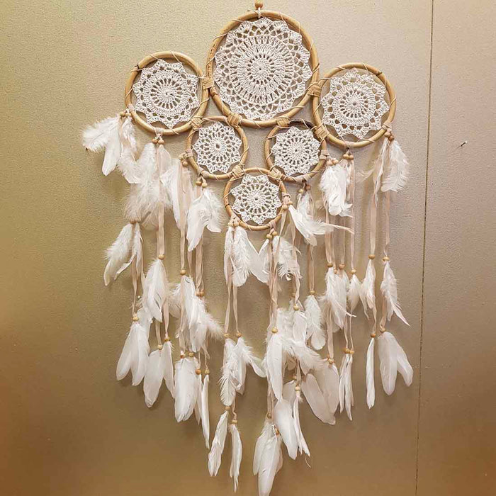 Gypsy 6 Ring Dream Catcher (approx. 90x32cm)