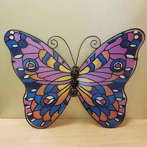 Mosaic Look Glass Butterfly