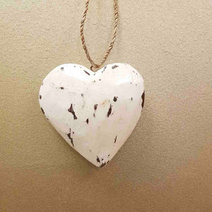 Hanging Whitewash Heart