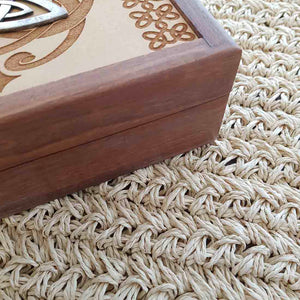 Carved Wooden Box with Triquetra