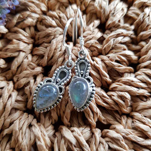 Labradorite Earrings (sterling silver)