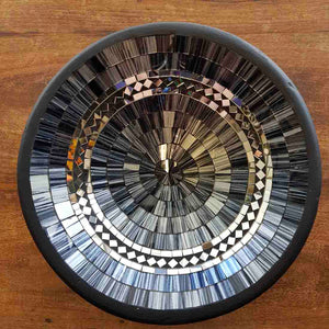 Grey & Silver Mosaic Bowl (approx. 28cm diameter)